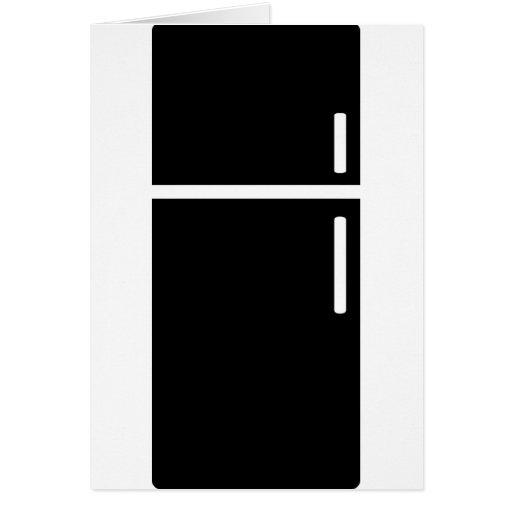 icono negro del refrigerador del refrigerador felicitaciones