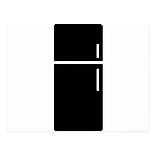 icono negro del refrigerador del refrigerador tarjetas postales
