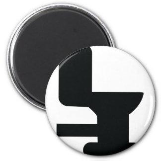 icono negro del retrete iman