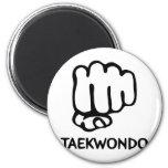 icono negro del Taekwondo Imanes