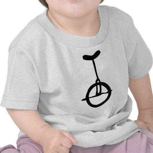 icono negro del unicycle camiseta