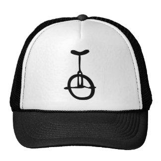 icono negro del unicycle gorros