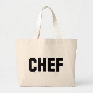 icono negro grande del cocinero bolsa