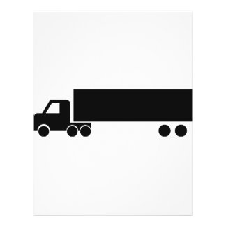 """icono negro largo del camión folleto 8.5"""" x 11"""""""