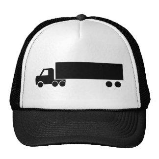 icono negro largo del camión gorra