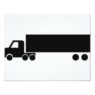 """icono negro largo del camión invitación 4.25"""" x 5.5"""""""