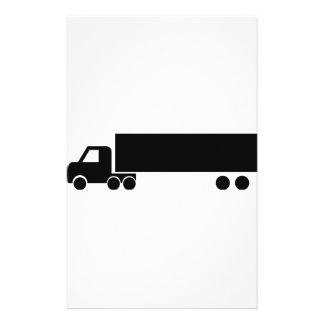 icono negro largo del camión papeleria