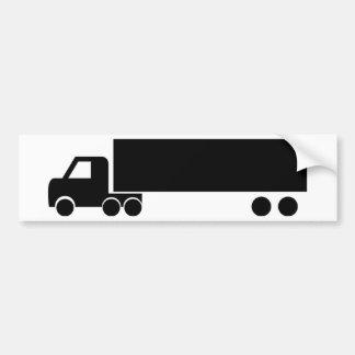 icono negro largo del camión pegatina para auto