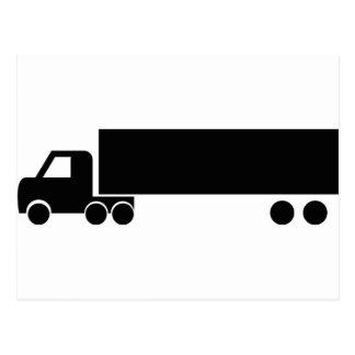 icono negro largo del camión postal
