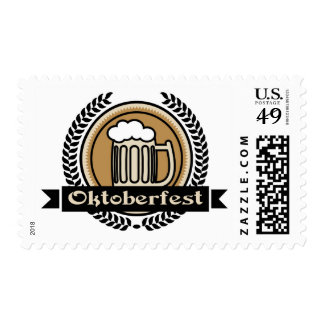 Icono o etiqueta de la cerveza de Oktoberfest Estampillas