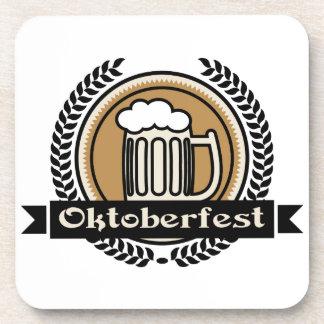 Icono o etiqueta de la cerveza de Oktoberfest Posavasos