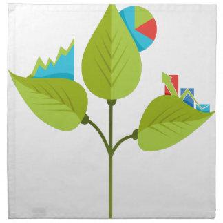 Icono orgánico del crecimiento servilletas de papel