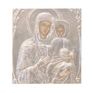 Icono ortodoxo libretas para notas