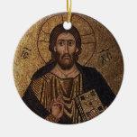 Icono ortodoxo cristiano del mosaico de Cristo Pan Ornamento De Reyes Magos