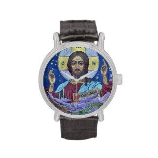 Icono ortodoxo de Cristo Pantocrator Relojes