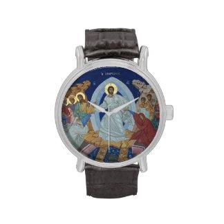 Icono ortodoxo de la resurrección de Cristo Relojes
