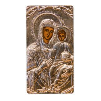 Icono ortodoxo etiqueta de envío