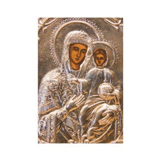 Icono ortodoxo impresión en lona estirada