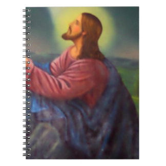 Icono ortodoxo pintado a mano del señor Jesucristo Libros De Apuntes Con Espiral
