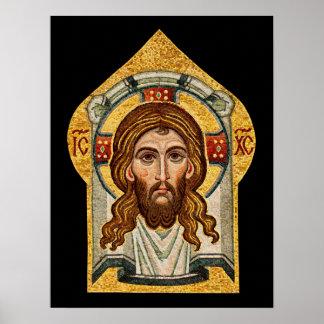 Icono ortodoxo ruso del mosaico posters