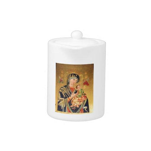 Icono ortodoxo ruso - Virgen María y bebé Jesús