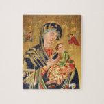 Icono ortodoxo ruso - Virgen María y bebé Jesús Puzzle