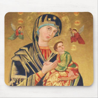 Icono ortodoxo ruso - Virgen María y bebé Jesús Alfombrillas De Ratones