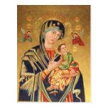 Icono ortodoxo ruso - Virgen María y bebé Jesús Postales