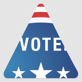 Icono político del botón de la elección de los pegatina triangular