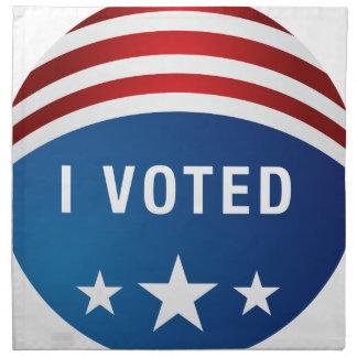 Icono político del botón de la elección de los servilleta de papel