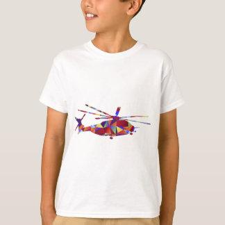 Icono polivinílico bajo del helicóptero playera