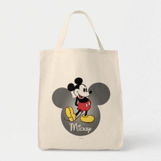 Icono principal clásico de Mickey el | Bolsa Tela Para La Compra