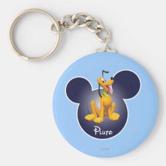 Icono principal de Plutón el   Mickey Llavero Redondo Tipo Pin