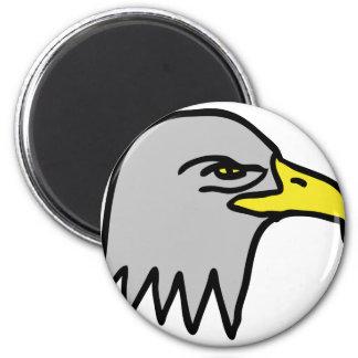 icono principal del águila imán redondo 5 cm