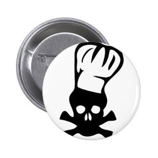 icono principal del cocinero pin redondo 5 cm