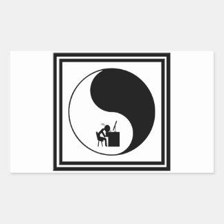 Icono principal del escritorio pegatina rectangular