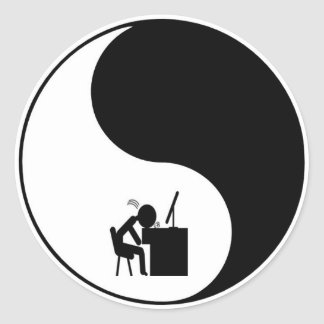 Icono principal del escritorio pegatina redonda