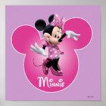 Icono principal rosado de Minnie el | Mickey Póster