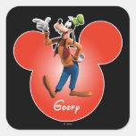 Icono principal torpe del | Mickey Pegatina Cuadrada