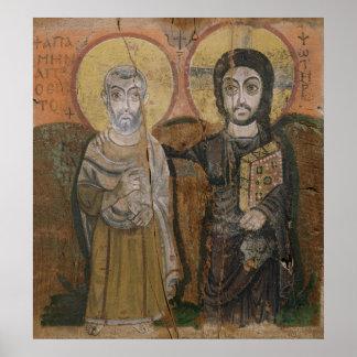 Icono que representa a Abbott Mena con Cristo Póster