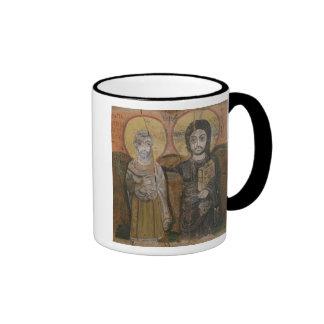 Icono que representa a Abbott Mena con Cristo Taza A Dos Colores