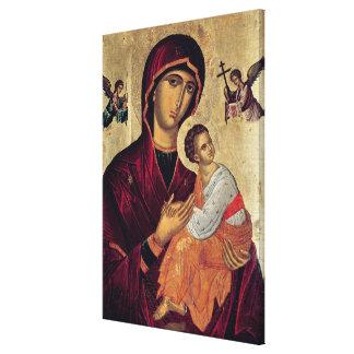 Icono que representa a la madre santa de la pasión impresion en lona