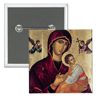 Icono que representa a la madre santa de la pasión pin cuadrada 5 cm