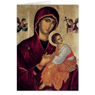 Icono que representa a la madre santa de la pasión tarjetas
