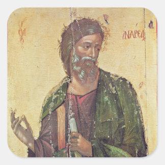 Icono que representa a St Andrew Pegatina Cuadrada