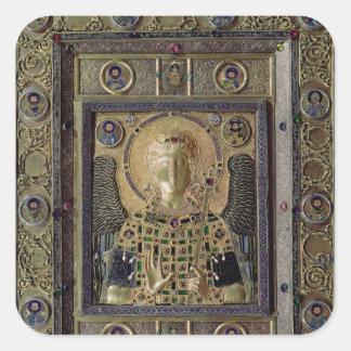 Icono que representa el arcángel Michael Calcomania Cuadrada Personalizada
