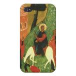 Icono que representa la entrada de Cristo en Jerus iPhone 4/4S Funda
