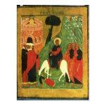 Icono que representa la entrada de Cristo en Tarjetas Postales