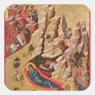 Icono que representa la natividad pegatina cuadrada