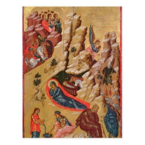 Icono que representa la natividad tarjetas postales